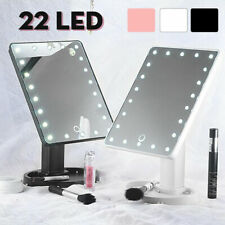 22 LED Light Vanity Makeup Mirror Touch Screen Lighted Tabletop Cosmetic Tool