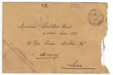 Entier postal FRANCHISE POSTALE DE SERVICE (Armée) de Centre 113 à DRANCY