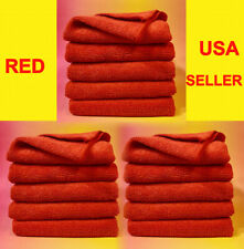 "RED PREMIUM MICROFIBER CLEANING CLOTH TOWEL 16""x16"" >Kitchen Party Table Glass"