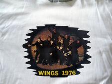 RARE MINT PAUL MCARTNEY & WINGS BEATLES 1976 VINTAGE IRON ON SHIRT TRANSFER