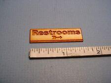 Store Sign - Restrooms -SP130  Dollhouse Miniature