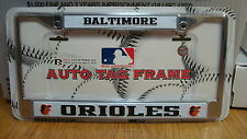 BALTIMORE ORIOLES CHROME METAL LICENSE PLATE FRAME BRAND NEW RICO INDUSTRIES