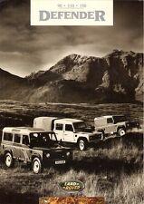 Land Rover Defender 1994-95 UK Market Foldout Sales Brochure 90 110 130