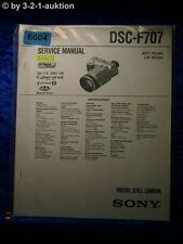 Sony Service Manual DSC F707 Level 1 Digital Still Camera (#6604)