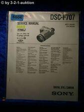 Sony Service Manual DSC F707 Level 1 Digital Still Camera (#6604)
