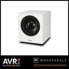 "Wharfedale WH-D10 10"" 300Watt Front-firing Active Subwoofer (WHITE) RRP $899"