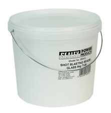 NEW! Sealey Shot Blasting Beads Glass 5kg Tub