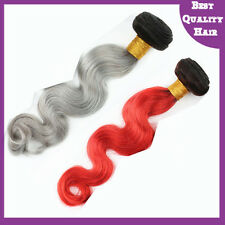Set of 2 Christmas Set-B Body Wave Ombre Brazilian Virgin Human Hair Extensions