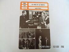 CARTE FICHE CINEMA 1963 LE VICE ET LA VERTU Annie Girardot Catherine Deneuve
