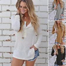 Damen Winter Pullover Strickpullover Pulli Sweater Sweatshirt Longshirt Bluse