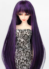"wamam 68# Purple Pigtail Snap-on Amphibious Wig 1//3 SD DZ BJD Dollfie 8-9/"""