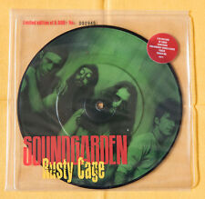 """Soundgarden RUSTY CAGE 7"""" picture disc vinyl limited ed Seattle Cornell Nirvana"""