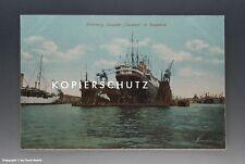 Ansichtskarte Hamburg Dampfer Cleveland im Riesendock vermutlich um 1925