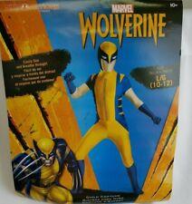 Marvel Wolverine Costume Halloween Youth Size Large 10-12 Skinovations