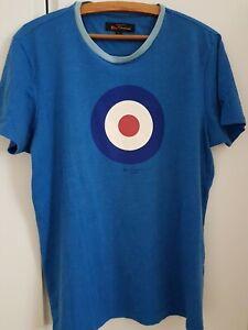 Ben Sherman T-Shirt Gr. L, blau, Gebraucht aber wie neu