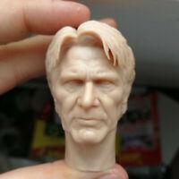 Blank Hot 1/6 Scale Star Wars The Old Man Han Solo Head Sculpt Unpainted