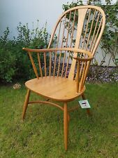 Ercol Chairmakers Chair Model 911 Light Blonde Finish Seat & Cushion Dated 2011