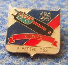 NOC USA OLYMPIC ALBERTVILLE 1992 BOBSLED BOBSLEIGH PIN BADGE
