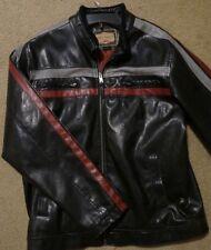 Vintage Arizona Jean Company Mens Faux Leather Motorcycle Biker Jacket Size L