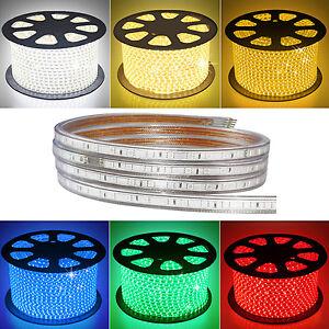 5 -100m 5050 SMD 60 LED Strip Light 110v High Voltage Flexible IP67 Waterproof