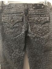 NWOT Boutique Miss Me Girls Gray Leopard Jeans Size 16 CK402751 Skinny B3