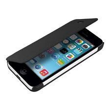 kwmobile Flip Cover Case für Apple iPhone 5C Schwarz Schutz Hülle Etui Handy