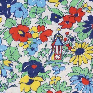 "1/2 Yard Vintage Fabric 35"" Wide x 18"" Novelty Birds Birdhouses"