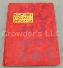 Hammonds Standard World Atlas 1952 Geographic Encyclopedia March of Civilization