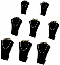 "5.5""H 8Pcs SET BLACK VELVET EARRING PENDANT JEWELRY DISPLAY STAND NECKLACE RD14B"