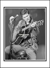 Chris Isaak, Autographed, Signed, Cotton Canvas Image. Limited Edition (CI-2)