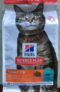 Hill's Science Plan Feline Adult Cat Food with Tuna Dry Cat Food 1.5kg.