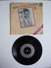"""Nat King Cole When I Fall In Love Vinyl UK 1987 Capitol 7"""" Single 1st Press A1B1"""