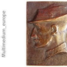 Placa Hermann Löns Firmado E. F. para Else Príncipe (Creado 1873) Um 1900 Oscuro