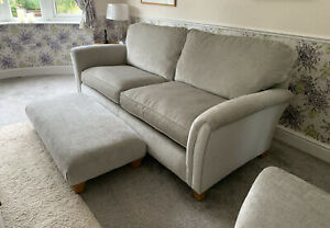 Parker Knoll Devonshire - Two Grand Sofas & Foot Stool - Silver Grey