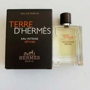 Terre d'Hermes Eau Intense Vetiver 0.17 oz / 5 ml Eau de Parfum Travel Miniature