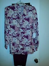Judith Hart Women Two Piece Blouse and Pants Size 16W  Inseam 27 Never Worn