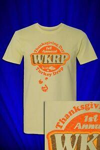 WKRP Turkey Drop Distressed Promo t-shirt FREE S&H to USA Thanksgiving humor