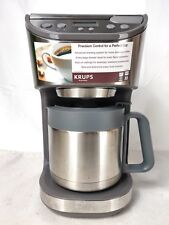 Krups KT406 Stainless Steel Finish 10 Cup Drip Programable Coffee Maker