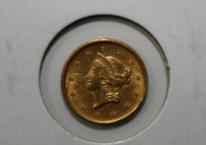 1851 $1 Dollar Liberty Head Gold Coin Uncertified