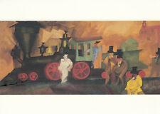 Kunstkarte: Lyonel Feininger - Alte Lokomotive