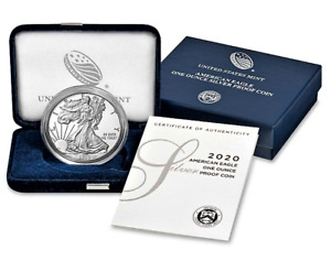 2020-S SILVER EAGLE PROOF $1 * OGP w/CASE & COA * Free Shipping