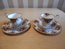 Royal Albert Old Country Roses Porzellan Kaffeeset für 2 Personen - Unbenutzt !!