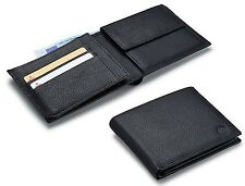 Volkswagen New Genuine Leather Men's Wallet Black 000087400F 041 VW embossed