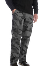 Men's Wrangler Camo Flex Cargo Pants Relaxed Fit w/ Tech Pocket ALL SIZES 34-46