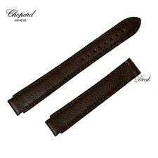 Authentic Chopard Watch Leather Strap Brown 16/14mm Tapered h551432717