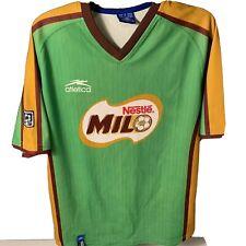 Atletica Nestle Milo MLS V-Neck Green, Gold Double-Sided Soccer Jersey Sz Large