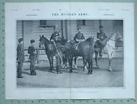 1903 PRINT RUSSIAN ARMY TYPES OF COSSACK CAVALRY