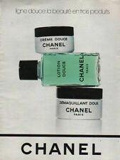 Publicité Advertising CHANEL  lotion crème démaquillant ligne douce