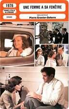 FICHE CINEMA : UNE FEMME A SA FENETRE - Schneider,Noiret,Granier-Deferre 1976