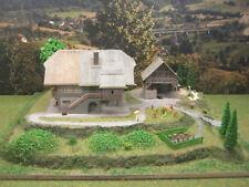Diorama Bauernhof mit LED Beleuchtung Modellbau H0 1:87 #T59